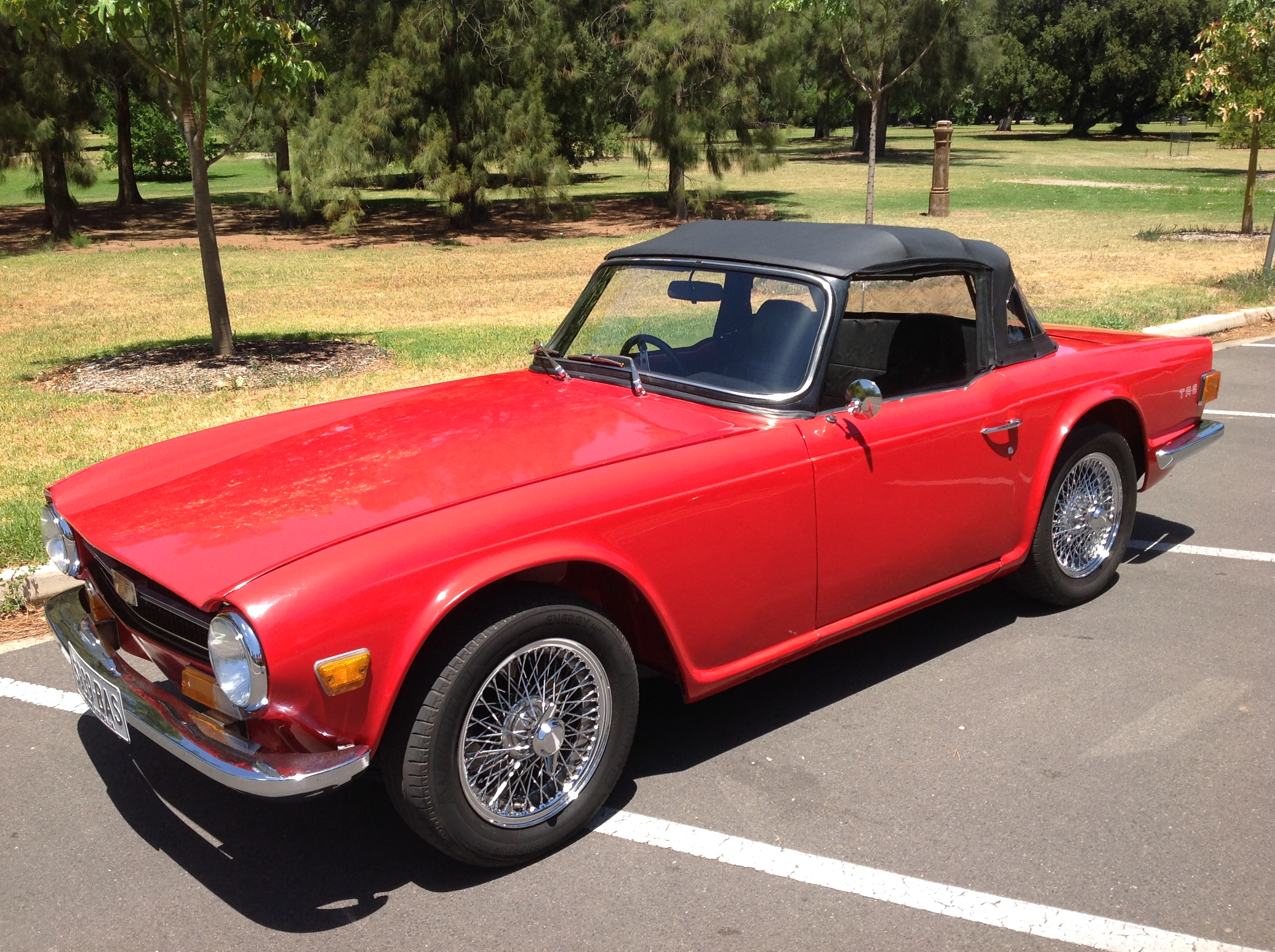 Triumph Tr6 Rhd Fuel Injected 150 Hp Model Sold Collectable